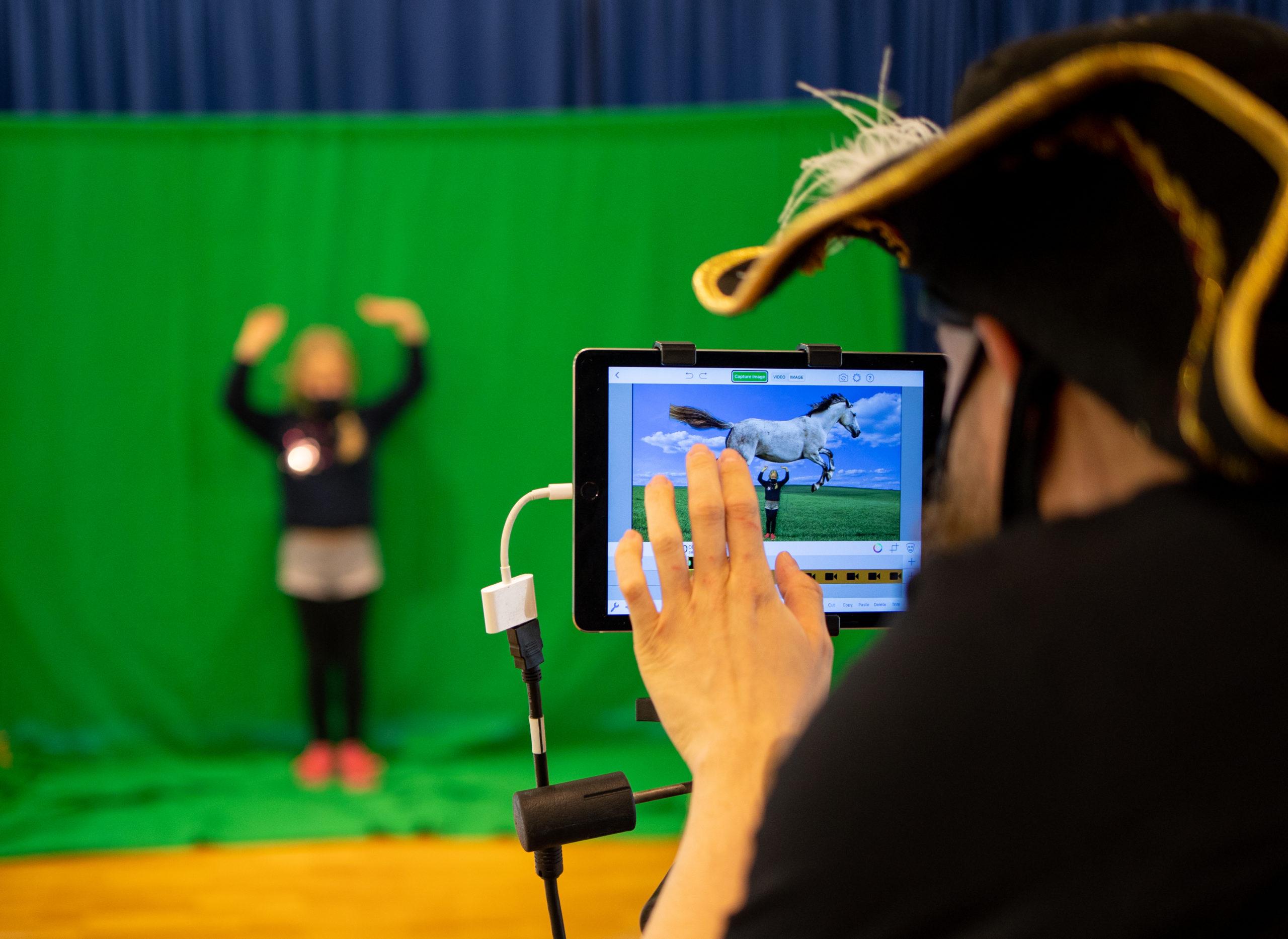 Pippi auf dem Green-Screen